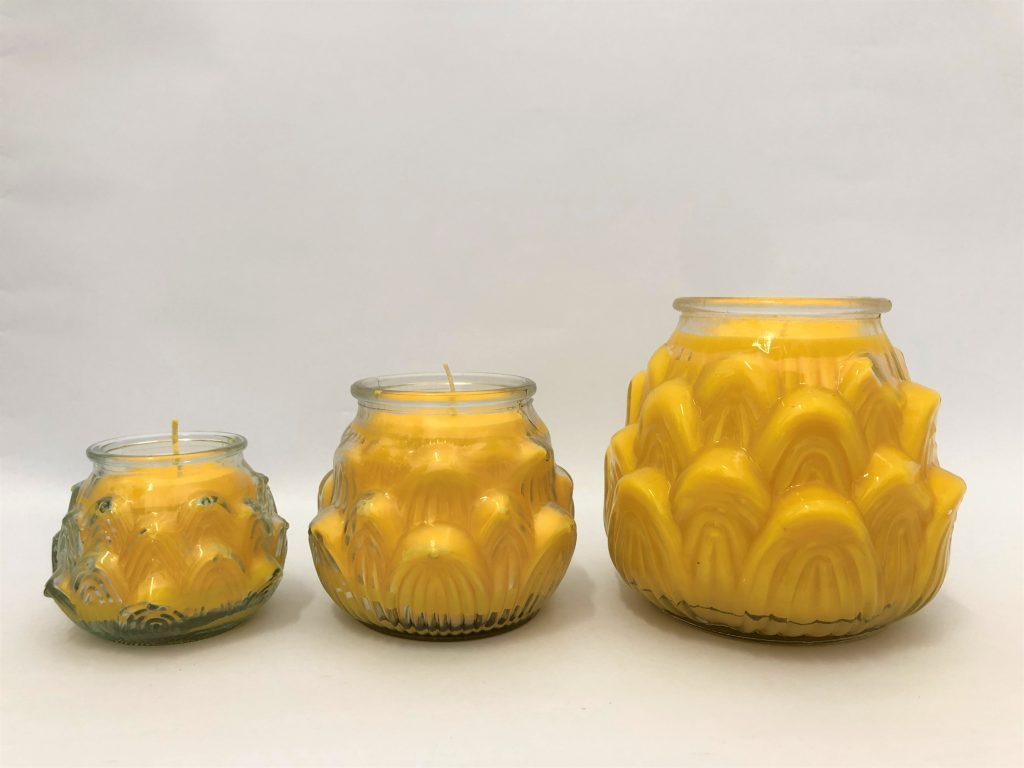 Lotus Embossed Butter Lamps ( 1 Day, 3 Days, 7 Days) 莲花酥油灯 (1天、3天、7天) Available in 7 colours
